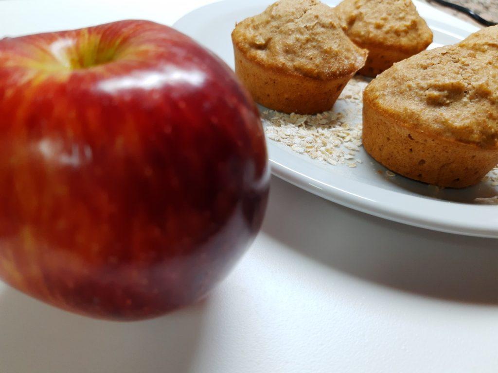 Muffins Integrales de Manzana y Avena